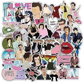 Huayao 50pcs Singer Harry Styles Adesivi Impermeabile per Laptop Fai da Te Bagagli Frigorifero Skateboard Decor Toy Graffi...