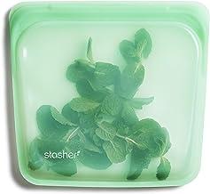 Stasher 100% Silicone Reusable Food Bag, Sandwich, Mint