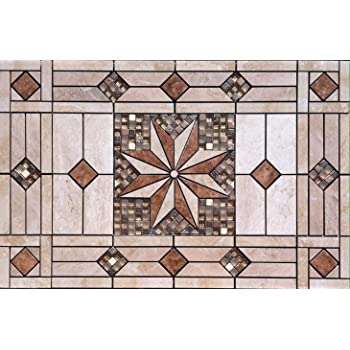 Daltile Esta Villa /& American Olean Kendal Slate Tile Series 32 x 20 3//4 Tile Medallion Mural