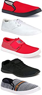 WORLD WEAR FOOTWEAR Sports Running Shoes/Casual/Sneakers/Loafers Shoes for MenMulticolors (Combo-(5)-1219-1221-1140-749-1032)