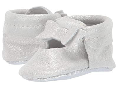 Freshly Picked Glass Slipper Ballet Flat Bow Mocc (Infant/Toddler) (Chrome) Girl