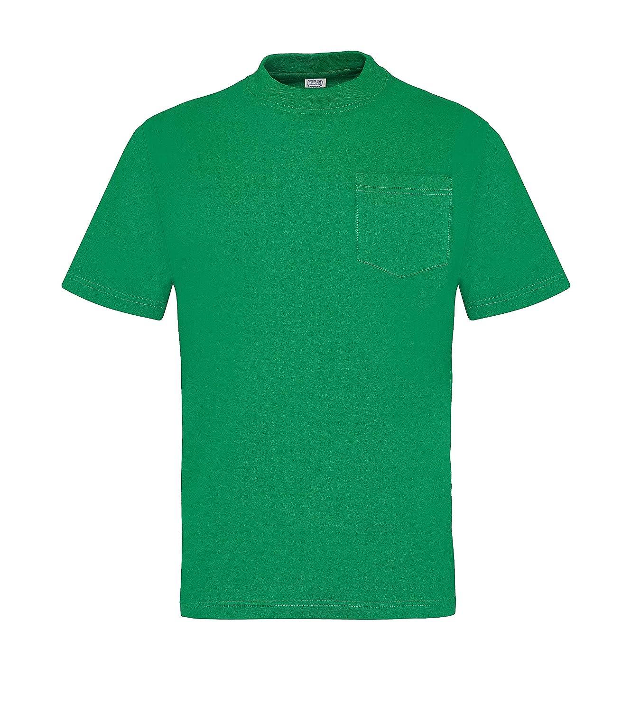Vesin CA26-RO-S Camiseta Manga Corta, con Bolsillos, Algodón ...