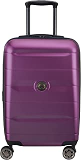 DELSEY Paris Comete 2.0 Hardside Expandable Luggage with Spinner Wheels, Purple, Carry-on 21 Inch