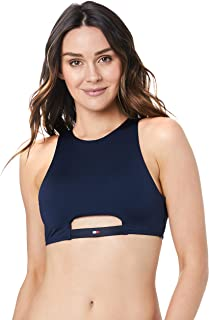 Tommy Hilfiger Women's Cutout High Neck Swim Crop Top