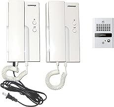 Commax 1-to-2 Door Intercom: Doorbell and Doorphones Set DP-HP01/DR-2GN