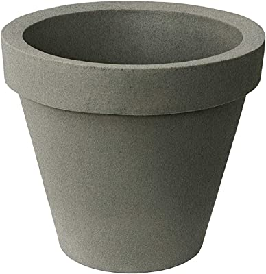 """Algreen 88802 Watering Planter, 16"""", Taupe"""