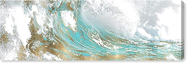 The Oliver Gal Artist Co. Abstract Wall Art Canvas Prints 'Wave in a Moment Aqua' Home Décor, 60