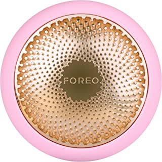 FOREO UFO Smart Mask Treatment Device with Thermo/Cryo/LED Light Therapy and Sonic Pulsation, Pearl Pink