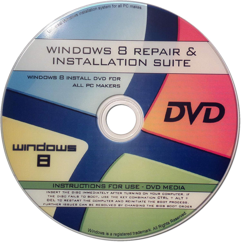 ✔ Win 8 Compatible Install  Repair DVD for Core, Pro, Ente