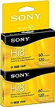 Sony P6120HMPR/2C 2-Pack 120-Minute Hi8 Tape with Hangtab