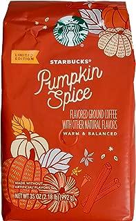Starbucks 2019 Pumpkin Spice Ground Coffee Natural Flavors, 35 Ounce