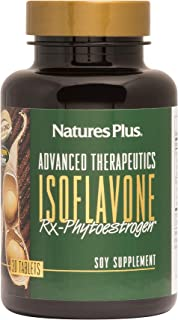 NaturesPlus Advanced Therapeutics Isoflavone Rx Phytoestrogen - 125 mg, 30 Vegetarian Tablets - Soy Supplement - Promotes ...