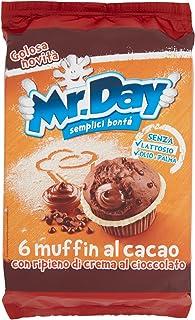 Mr. Day Muffin al Cacao con Pepite e Crema di Cioccolato, 6 x 42g