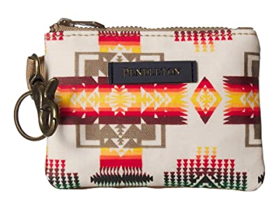 Pendleton Canopy Canvas ID Pouch Key Ring (Chief Joseph) Travel Pouch