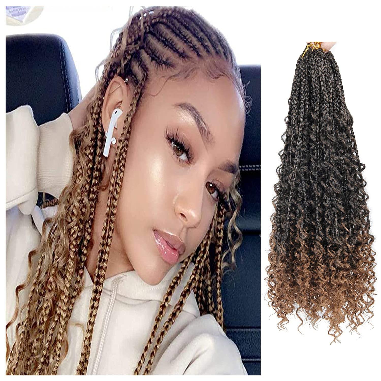 Goddess Crochet Free shipping Box Braids Brand Cheap Sale Venue Hair 8 14 Brai 3X Bohemian Inch packs