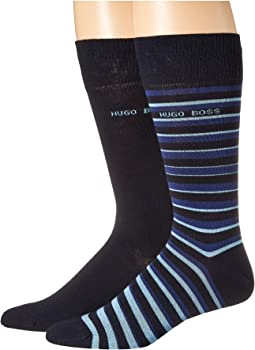 2-Pack Stripe Cotton Socks