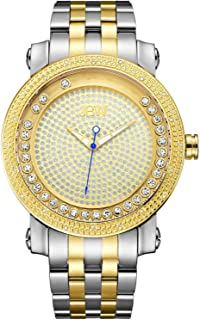 JBW Luxury Men's Hendrix 20 Diamonds & Floating Crystals Watch
