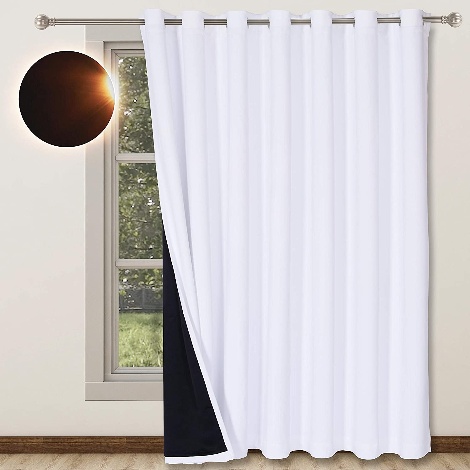 WONTEX Branded goods 100% List price Blackout Curtains for Patio 100 Living Room Bedroom