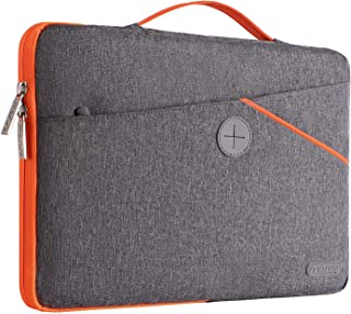 MOSISO Laptop Sleeve 360 Protective Case Bag Compatible with 13-13.3 inch MacBook Pro, MacBook Air, Notebook, Polyester Shockproof Retractable Handle Carrying Case Cover Handbag, Gray
