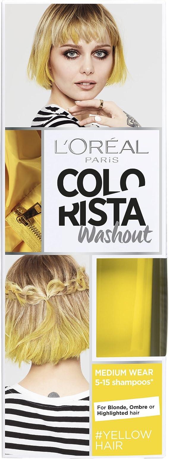 L Oreal colorista lavado amarillo neón semipermanente pelo, 80 ml