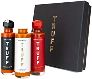 TRUFF Hot Sauce Variety Pack, Gourmet Hot Sauce Set of Original, Hotter and Limited White Edition, Unique Flavor Experienc...