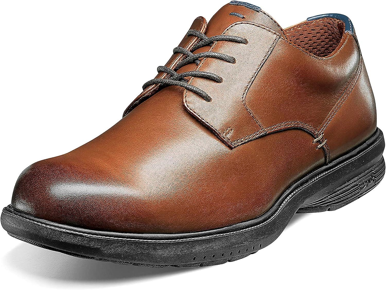 Nunn Bush Men's Messina Plain Toe Oxford with Kore Slip Resistant Comfort Technology