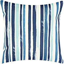 Throw Pillow Covers Decorative Tommy Bahama Outdoor Fabric Blue Stripe 18 x 18 Pk 1