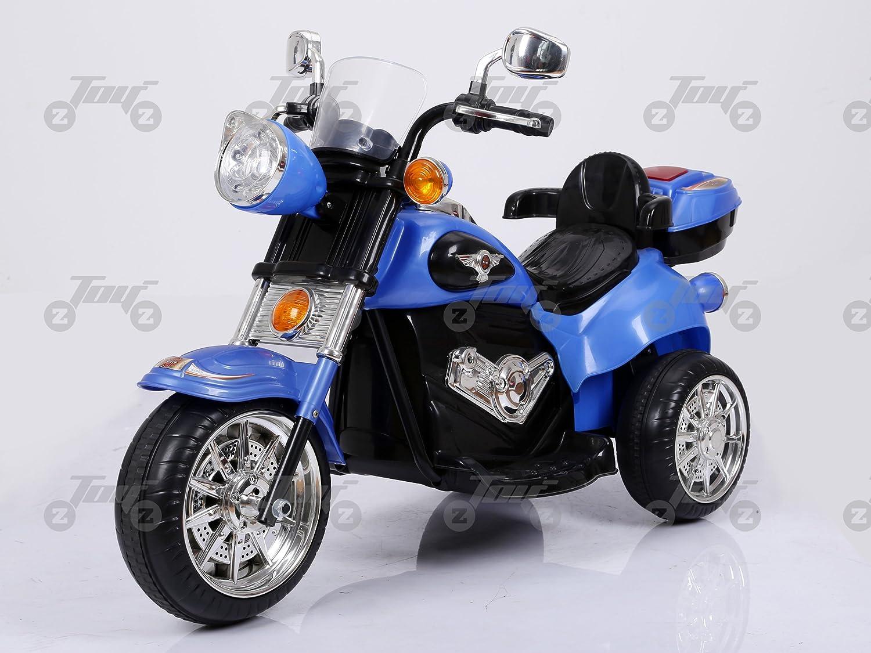 Toyzz KIDS NEW HARLEY STYLE MOTORCYCLE RIDE ON MOTORBIKE BATTERY CAR BIKE (bluee)