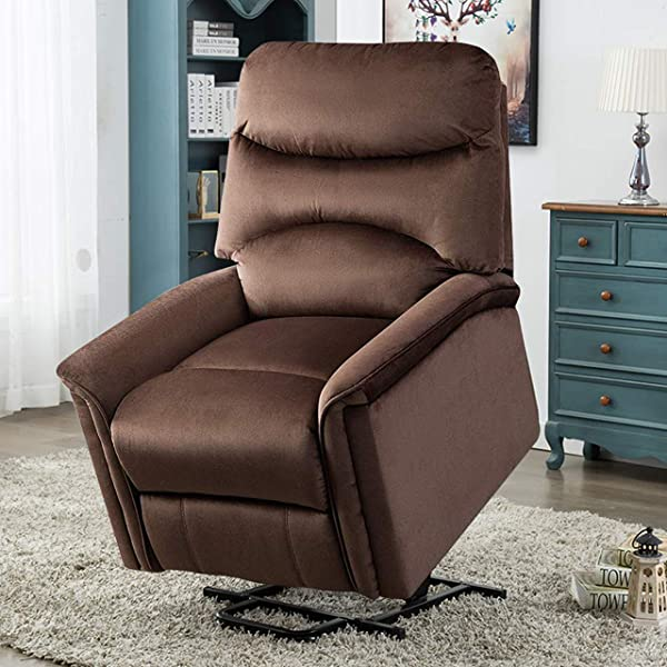 Power Lift Chair BONZY HOME Electric Lift Recliner Sofa Lounge 90 To 150 Degree Adjustable Padded Seat With Bag Headrest Backrest Footrest In Living Gaming Makeup Office Room Chocolate