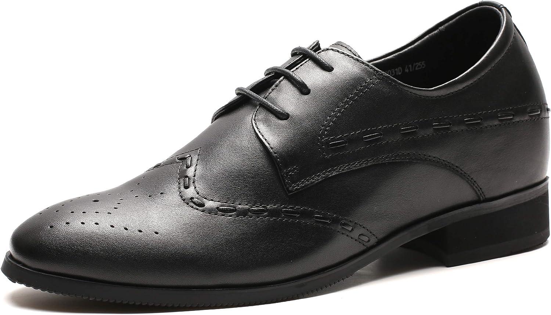Faretti Formella hissskor för män svart svart svart läder Ökad tillväxt 8 cm  köpa billiga nya