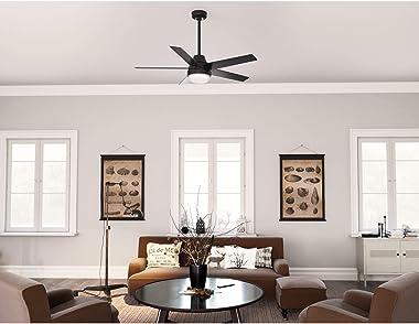 Hunter Fan Company 51314 Aerodyne Ceiling Fan, 52, Matte Black