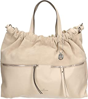 Roberta Rossi Outlet borsa shopper da donna vera pelle Dolaro + Scamosciato fatta a mano in Italia, 32x46x18 cm Made in It...