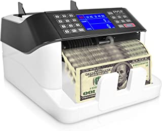 Pyle Bill Counter, Cash, Automatic Counting Machine, Toploader, UV & MG Counterfeit Detection, UV Scanning, LCD Display, 1000+ Pieces Per Minute, U.S. & Canadian Dollar, Euros & Pound (PRMC720)