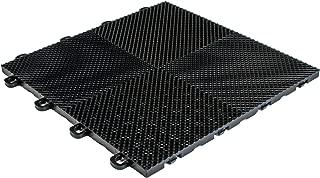 MODUTILE Interlocking Perforated/Drain Floor Tiles - 30 sq.ft. (Black)