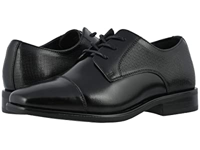Florsheim Kids Postino Cap Toe Ox, Jr. (Toddler/Little Kid/Big Kid) (Black) Boy