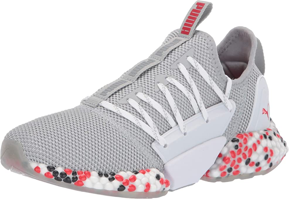 PUMA Unisex Hybrid Rocket Runner Sneaker Quarry-high Risk red Black, 5 M US Big Kid