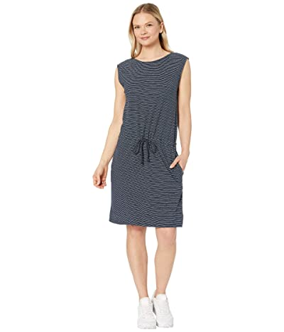 tentree Icefall Dress (Dark Ocean Blue/Elm White Stripe) Women