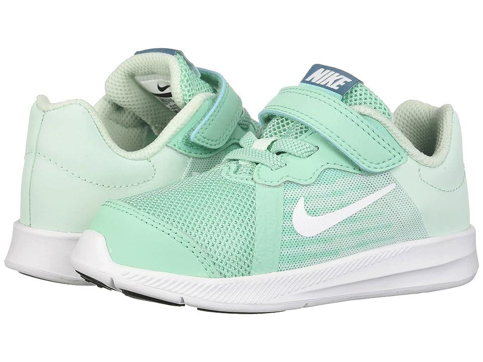 Nike Kids Downshifter 8 (Infant/Toddler) (Emerald Rise/White/Igloo/Noise Aqua) Girls Shoes