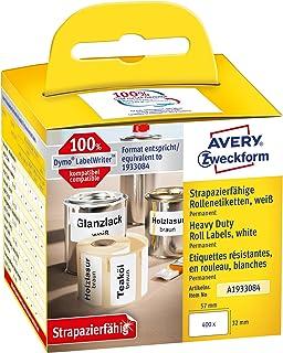 Avery Italia A1933084 Etichetta In Rotolo Ultra Resistente In Film Adesivo, Bianco