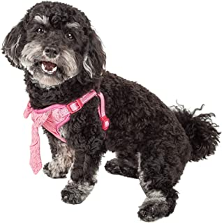 Pet Life ® 'Chichi Shaggy' Mesh Reversible And Breathable Adjustable Dog Harness W/Shaggy Neck Tie, X-small, Pink