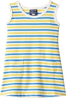 Blue & Yellow Stripe Baby Pocket Dress (Infant/Toddler)