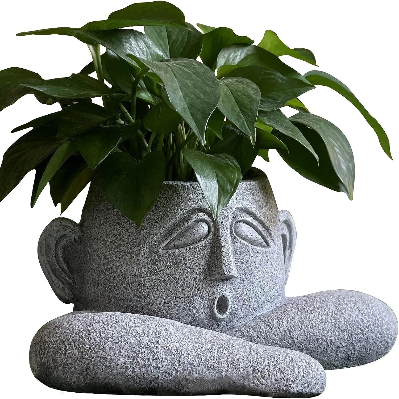 OUSHUAI Statue Planter Indoor unisex Art Flowerpot Garden Outdoor Decor Manufacturer regenerated product