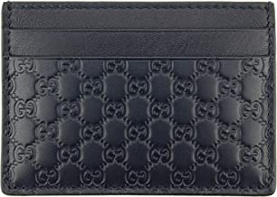 Gucci Microguccissima Signature Leather Card Case Wallet, Midnight-blue 262837