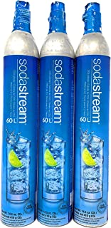 Sodastream 60 Liter Carbonator Set of Three Spare Replacement Cylinders for Soda Stream Machines and Samsung Refrigerators Buy a 3 Pack and Save