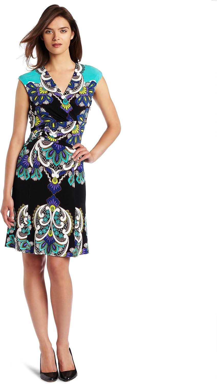 NINE WEST Dresses Women's Lace Scroll Print Matte Jersey
