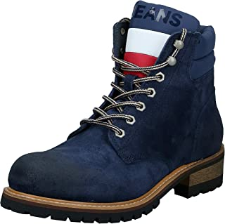 حذاء للرجال برباط من الجلد السويدي من تومي هيلفيغر