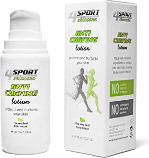 4Sport Anti Chafe Lotion 3.38 ounce - Thigh Chaffing Protection - Friction Proof Skin with the Help of a Breathable Moisture Barrier - Safe Clinically Tested Lanolin Formula with Natural Ingredients