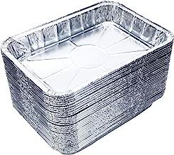 DOBI (30-Pack) Weber Grills Compatible Drip Pans, Bulk Package, Aluminum Foil BBQ Grease Pans, 7.5