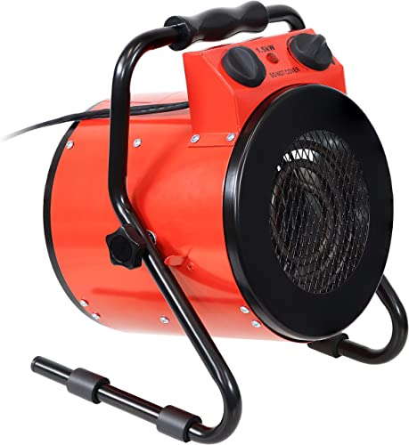 new arrival Sunnydaze Portable Electric Space Heater with online sale Carrying Handle - Indoor Use for Home, Garage, Shop and high quality Office - Small Personal Heating Appliance - 1500W - 5120 BTUs outlet online sale