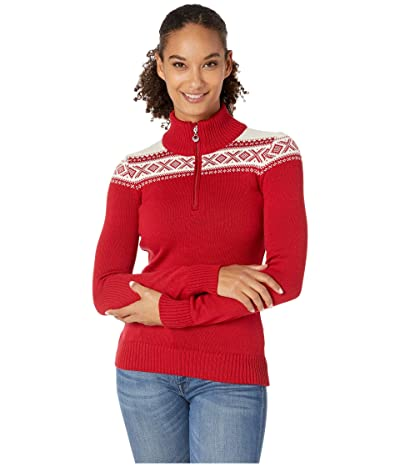 Dale of Norway Cortina Merino Feminine Sweater (Raspberry/White) Women